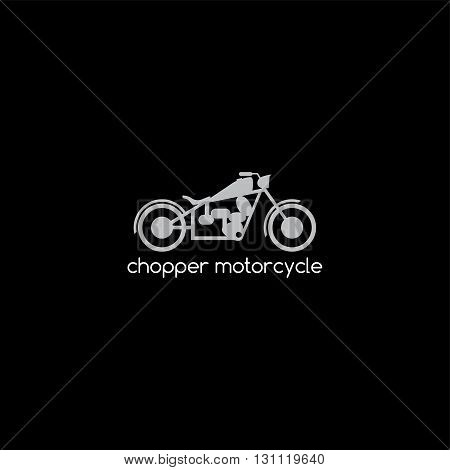 chopper motorbike logotype theme vector art illustration