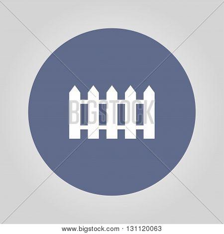Fence Icon. Flat Design Style.