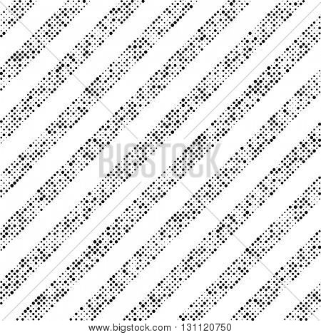 Seamless Diagonal Stripe Pattern. Vector Monochrome Texture. Abstract Striped Wallpaper. Chaotic Pixels Design