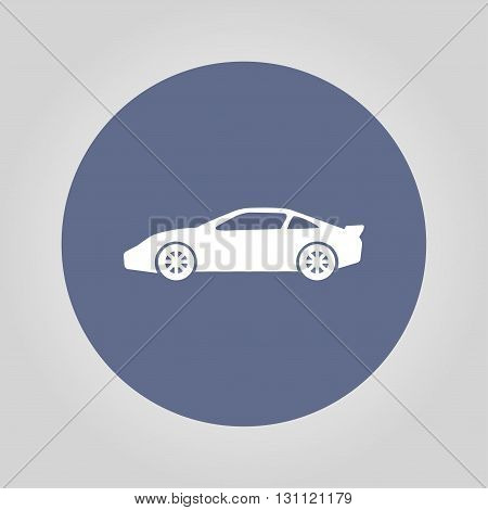Car Icon. Flat Design Style