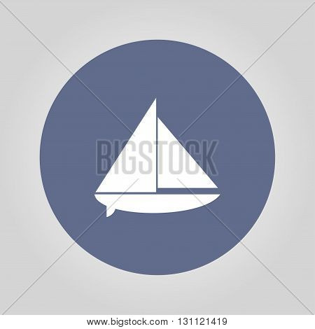 boat vector. Flat design style eps 10