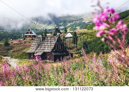 A hut in Tatra Mountains National Park Poland