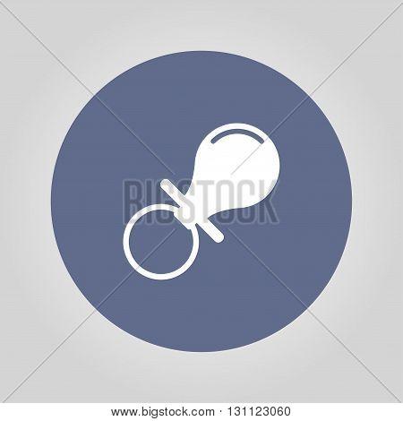 Baby nipple icon. Flat design style. EPS