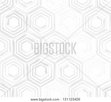 Seamless background template made from hexagons. Vector illustration