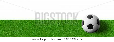 A Football Field Wtith A Ball On A White Background