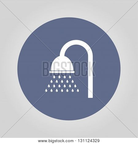 Shower Icon. Flat Design Style