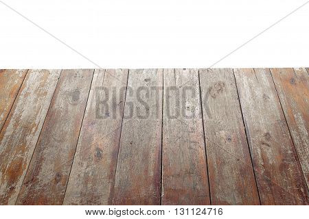 Wood floor texture isolated on white background with clipping path