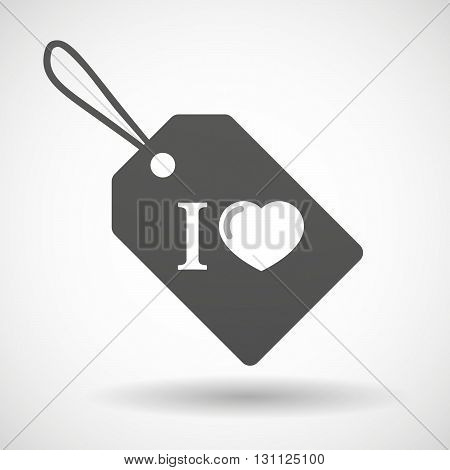 Isolated Shopping Label Icon With  An