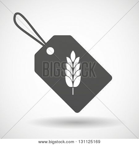 Isolated Shopping Label Icon With  A Wheat Plant Icon