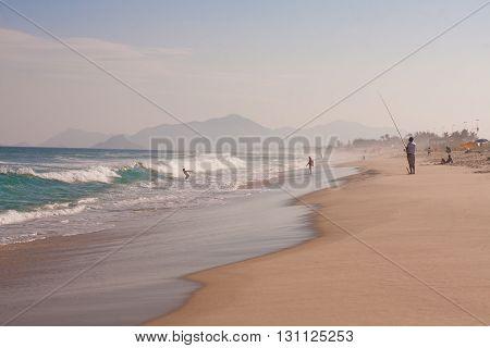 Reserva Beach In Rio de Janeiro Barra da Tijuca. Brazil
