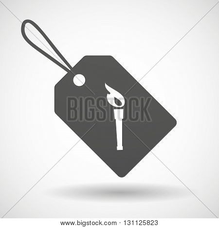 Isolated Shopping Label Icon With  A Torch Icon