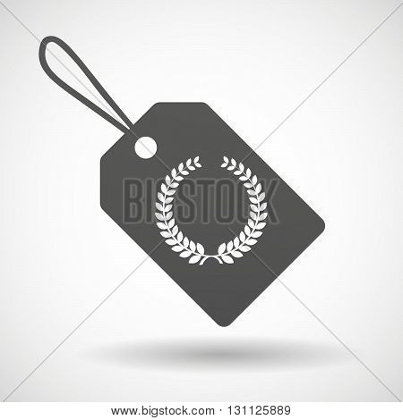 Isolated Shopping Label Icon With  A Laurel Crown Sign