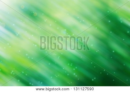 Sweet Pastel Green Blue And Yellow Stripe Line Pattern With Soft Dreamy Sunlight And Lens Flare Abst