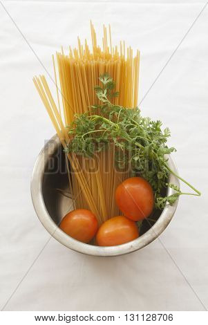 spaghetti food good with vegetables prepare cook