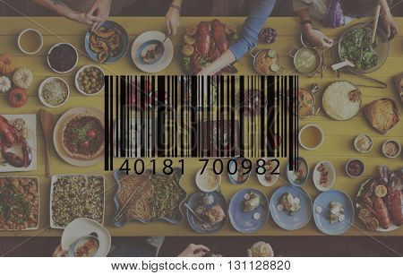 Bar Code Item Label Sign Concept