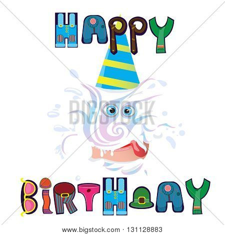 beautiful wish happy birthday for any person.vector