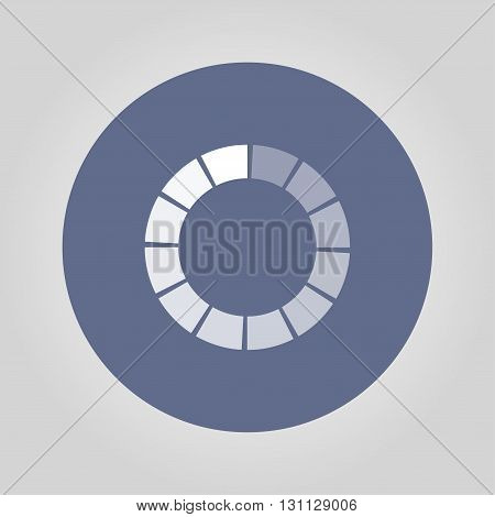 Vector circular loading icon. Flat design style eps 10