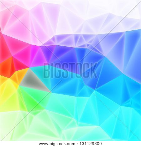 colorful low poly background with triangles, vector EPS10 with mesh