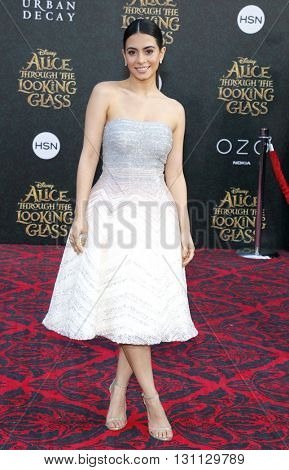 Emeraude Toubia at the Los Angeles premiere of 'Alice Through The Looking Glass' held at the El Capitan Theater in Hollywood, USA on May 23, 2016.
