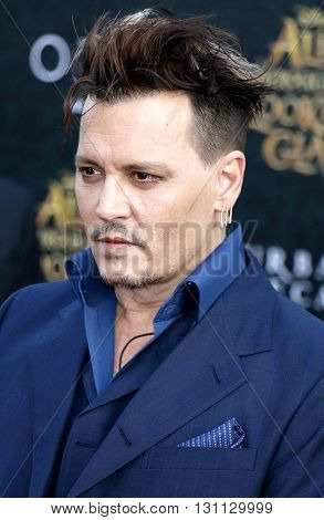 Johnny Depp at the Los Angeles premiere of 'Alice Through The Looking Glass' held at the El Capitan Theater in Hollywood, USA on May 23, 2016.