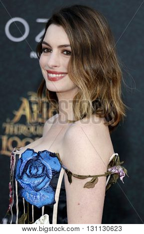 Anne Hathaway at the Los Angeles premiere of 'Alice Through The Looking Glass' held at the El Capitan Theater in Hollywood, USA on May 23, 2016.