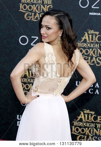 Karina Smirnoff at the Los Angeles premiere of 'Alice Through The Looking Glass' held at the El Capitan Theater in Hollywood, USA on May 23, 2016.