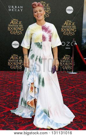 Pink at the Los Angeles premiere of 'Alice Through The Looking Glass' held at the El Capitan Theater in Hollywood, USA on May 23, 2016.