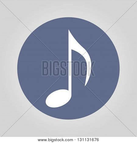 Music note icon - Vector. Flat design style eps 10