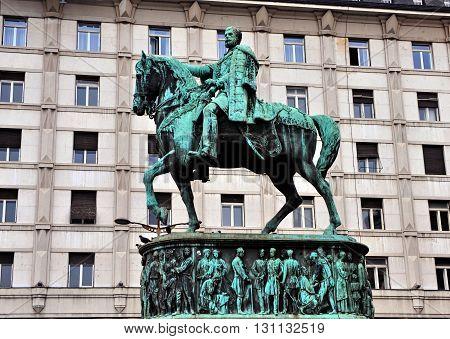 Prince Mihailo Monument in Belgrade city, Serbia
