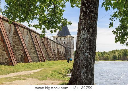 Kirillov, Russia - May 28: This is ancient fortification of Kirillo-Belozersky Monastery May 28, 2013 in Kirillov, Russia.