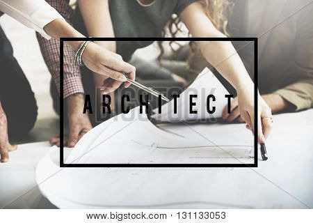 Architect Creative Occupation Engineer Professional Concept