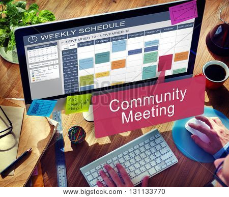 Community Meeting Connection Diversity Unity Concept