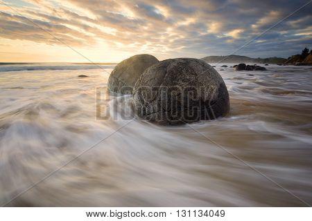 Beautiful seascape in east coast of New Zealand.
