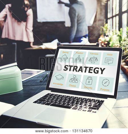 Business Cooperation Strategy Successful Company Concept