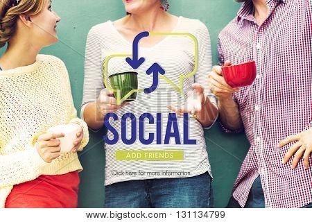 Social Socialise Mingle Friends People Concept