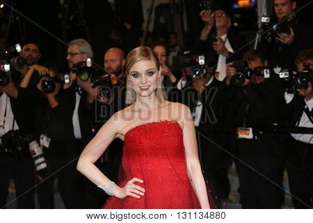 Bella Heathcote attends the screening of 'The Neon Demon' at the annual 69th Cannes Film Festival at Palais des Festivals on May 20, 2016 in Cannes, France.