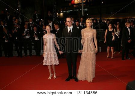 Liv Corfixen, Nicolas Winding Refn attend the screening of 'The Neon Demon' at the annual 69th Cannes Film Festival at Palais des Festivals on May 20, 2016 in Cannes, France.