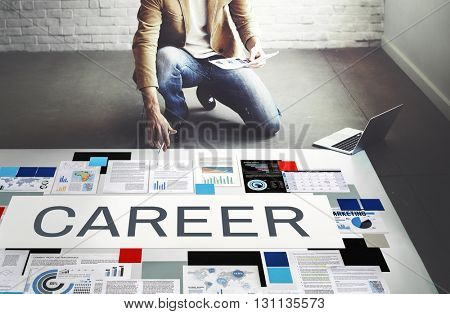 Career Tools Recruiting Profession Concept