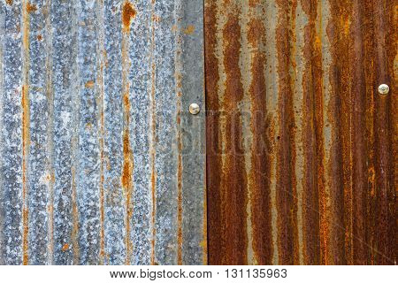 Old rusty galvanized roof background,abstract  architecture detail