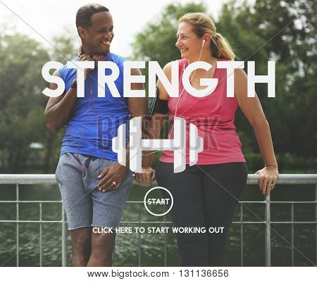 Strength Health Life Mental Nutrition Vitality Concept