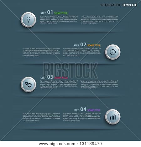 Info graphic with design element on blue background vector eps 10