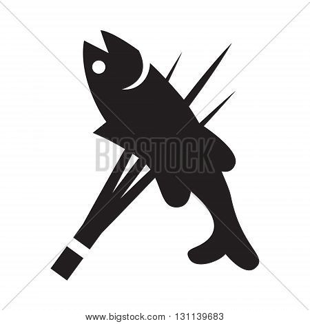 clip art graphic fishing on white background