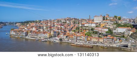 Panoramic View Over Historical City Porto