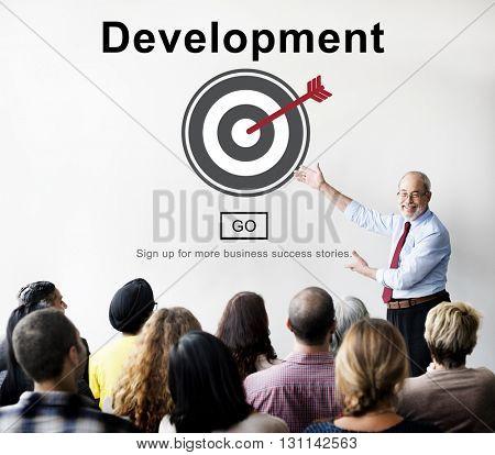 Development Growth Progress Icon Concept