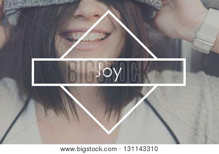Joy Life Live Love Happiness Appreciate Satisfaction Concept