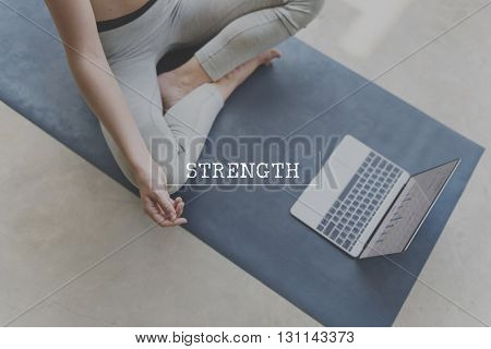 Strength Athlete Activity Strong Training Yoga Gym Concept