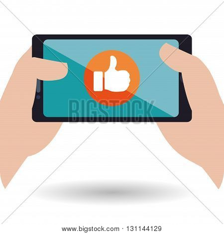 smartphone concept with icon design, vector illustration 10 eps graphic.