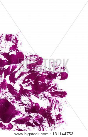 Abstract pink brush strokes over white as a background