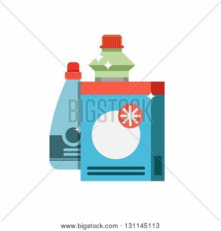 Cleaning Equipment Vector Icon. Detergents On White Background. Tool For Cleaning Vector Sign.