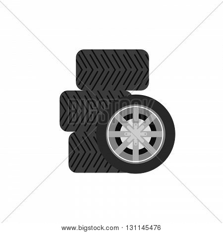 Tyre Vector Icon